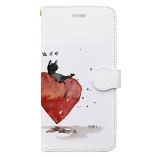 Peace cat Book-style smartphone case