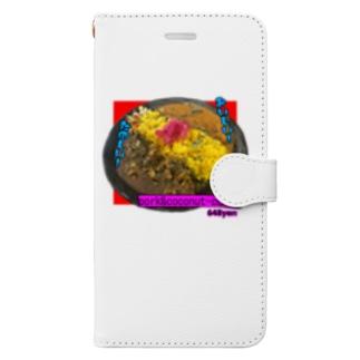 pork&coconut カレー Book-style smartphone case