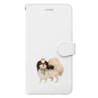 狆 ブルーリボン Book-style smartphone case