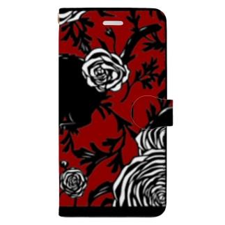 ネコと花02 Book-style smartphone case