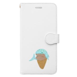 チョコミントアイスジンベイザメ Book-Style Smartphone Case