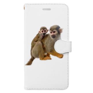 リスザルの親子 Book-style smartphone case