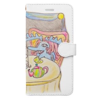 不憫婦人と過敏婦人 Book-style smartphone case