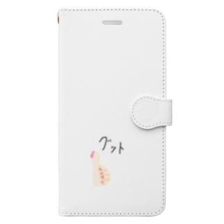 グット Book-style smartphone case