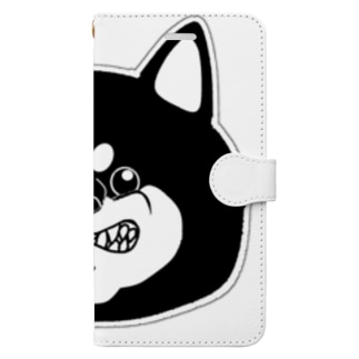 怒柴顔面マイルド Book-style smartphone case