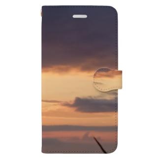 朝日🍀 Book-style smartphone case