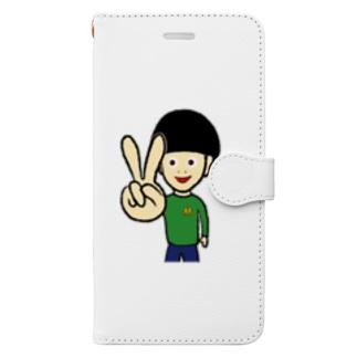ピース Book-style smartphone case
