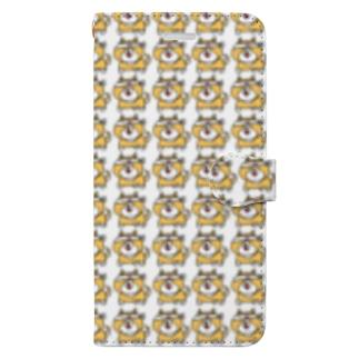 手帳型しばたろー(白) Book-style smartphone case