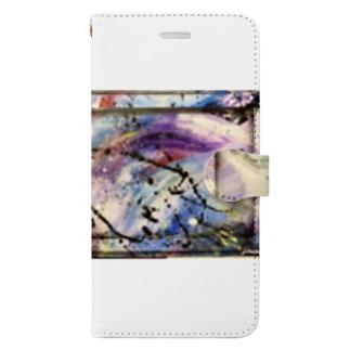 抽象画くん Book-style smartphone case