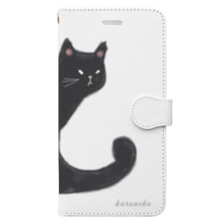 クロネコ 水彩 Book-style smartphone case