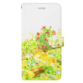 【花畑cogie's】手帳型ケース Book-style smartphone case