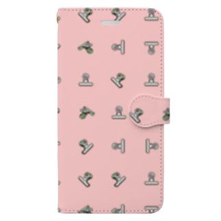 目玉クリップ ピンクB Book-style smartphone case