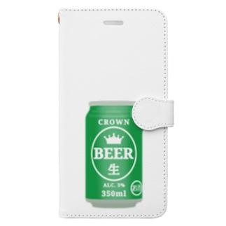 缶ビール Book-style smartphone case