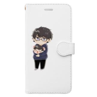 キシタク店長とだし汁娘 Book-style smartphone case
