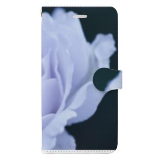 白バラ Book-Style Smartphone Case