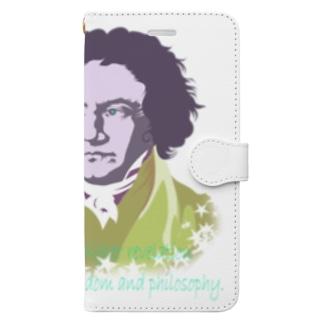 偉人の名言_ベートーベン_ye Book-Style Smartphone Case