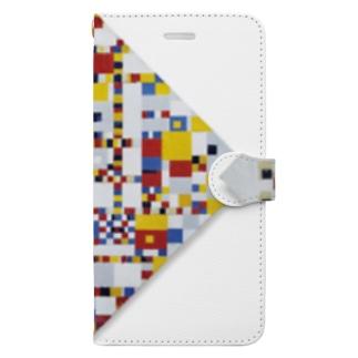 世界の絵画アートグッズのピート・モンドリアン《勝利のブギウギ》 Book-Style Smartphone Case
