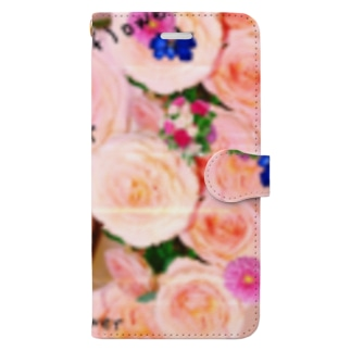 flowerビーム Book-style smartphone case