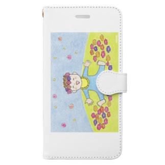 「ボクのお花畑」 Book style smartphone case