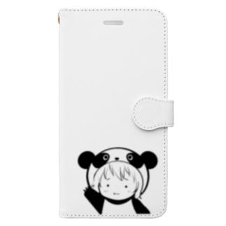 りとぱん モノクロ1 Book-Style Smartphone Case