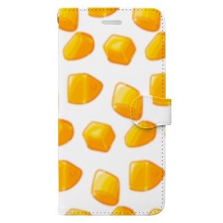 にくらしいカットマンゴー Book-style smartphone case