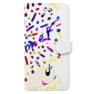 アフロちゃん花火 Book-style smartphone case