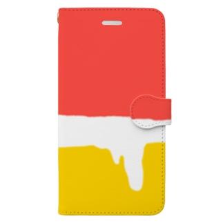 ビール 泡 Book-Style Smartphone Case