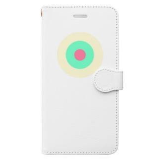 サークルa・クリーム・ペパーミント・ピンク2 Book-Style Smartphone Case
