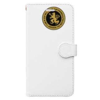 DEVGRU ライオン丸型2(ワンポイント) Book-style smartphone case
