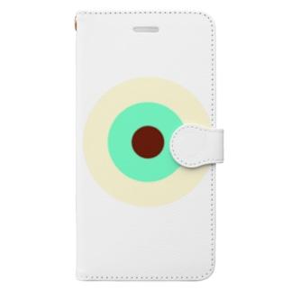 サークルa・クリーム・ペパーミント・チョコ Book-style smartphone case