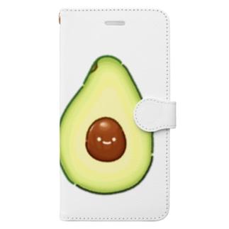 にくらしいアボカド Book-style smartphone case