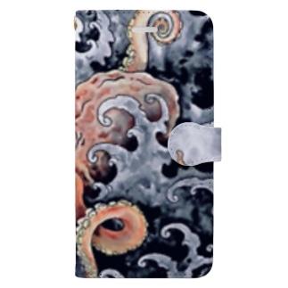 和彫蛸 Book-style smartphone case