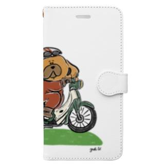 スーパーカブぽたさん Book-Style Smartphone Case
