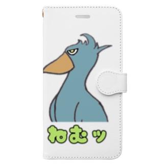 ハシビロコウさん ねむッ Book-Style Smartphone Case