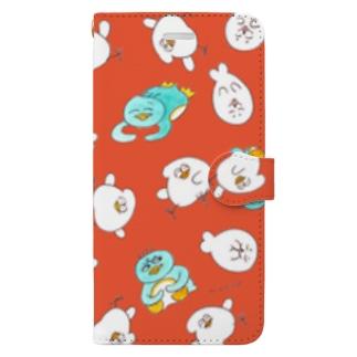 りんご色 Book style smartphone case