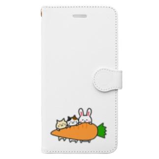 うさぎさんと猫さん Book-Style Smartphone Case