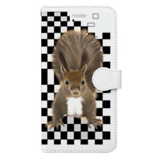 えぞりす Book-style smartphone case