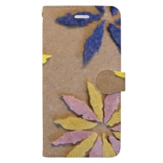 秋の葉っぱを。 Book-Style Smartphone Case