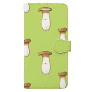にくらしいエリンギ Book-style smartphone case