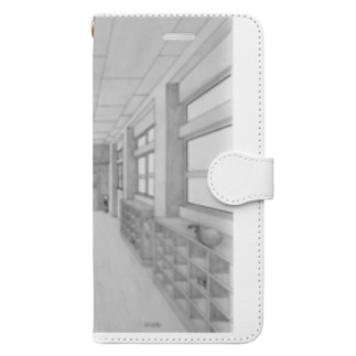小学校の廊下 Book-Style Smartphone Case