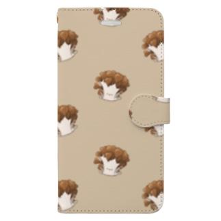 にくらしいマイタケ Book-style smartphone case