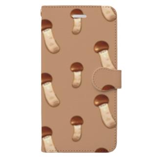 にくらしいマツタケ Book-style smartphone case
