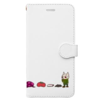 帽子いろいろ背比べ Book-style smartphone case