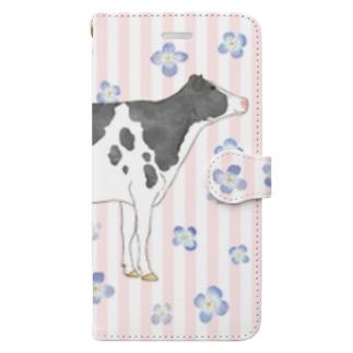 水彩うし2手帳型ケースその2 Book-style smartphone case