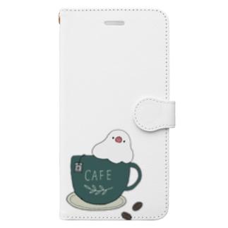 コーヒーカップ文鳥☕  (文鳥の日 2021記念) Book-Style Smartphone Case