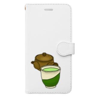 お茶急須湯のみ Book-style smartphone case