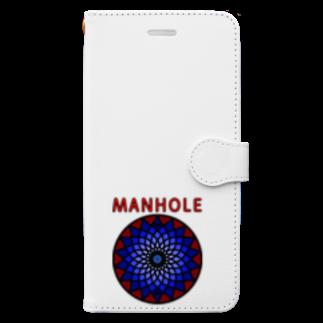 すぎ屋のマンホール Book-style smartphone case
