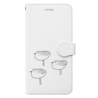 ミユビシギ Book-style smartphone case