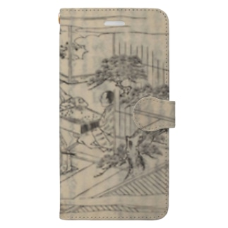 夢応の鯉魚L Book-style smartphone case