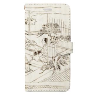 夢応の鯉魚(裏写り低減版)L Book-style smartphone case